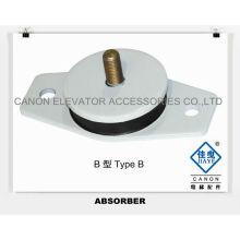 Cojín de goma del amortiguador para la máquina de la tracción del elevador
