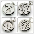 Stainless Steel Jewelry Essential Oil Diffuser Perfume Aromatherapy Locket Pendant Necklace