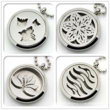 Neueste Silber Runde Magnetische Hollow Locket Diffusor Halskette