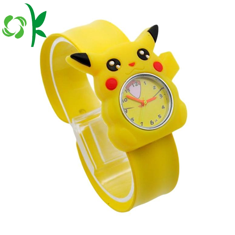 Yellow Silicone Slap Watch Wristbands