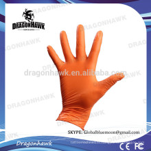 Gants en nitrile jetables en gros Orange Color L