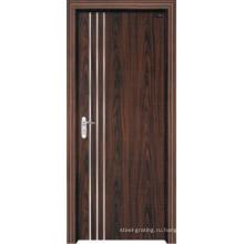 Деревянные двери из ПВХ для кухни или ванной комнаты (pd-012)
