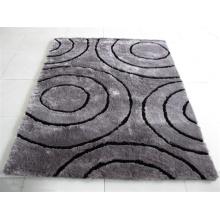 Modernes Design Langer Stapel Shaggy Polyester Seide Boden Teppich
