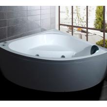 Bañera de metal floreciente, ducha, almohada, bañera con cara