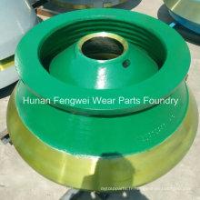 Pièces d'usure de concasseur à haute teneur en manganèse pour l'équipement minier
