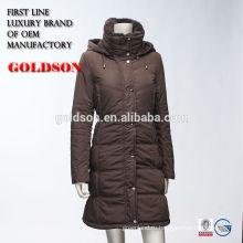2016 Мода Зимняя Куртка Женщин Коричневый Дизайнерская Одежда Канады