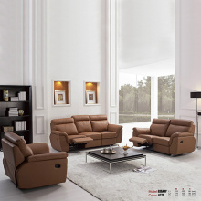 3-Piece Recliner Leather Living Room Sofa Set