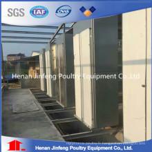 Cage standard d'oeufs de poulet de fil d'acier / équipement de ferme de volaille
