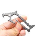 Mousqueton Titanium Shark EDC Tool avec ouvre-bouteille