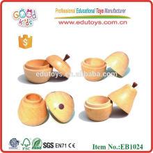 Pequeña caja de Apple de dientes de madera