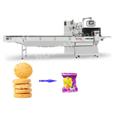 high speed biscuits automatic pillow packing machine