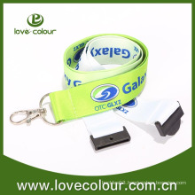 Creative lanyard with plastic card holder