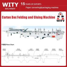carton box folding and gluing machie