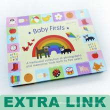 Colorido registro de cartón personalizado del libro de memoria del bebé