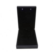 Custom high quality black velvet jewelry boxes Packaging box with LED light