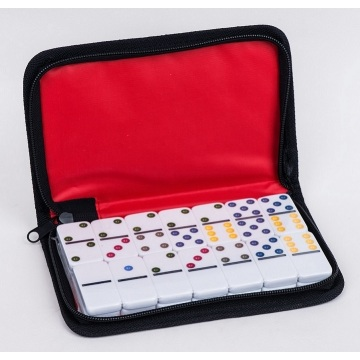 Plastic Domino 6 In CD Box Game Set With High Quality