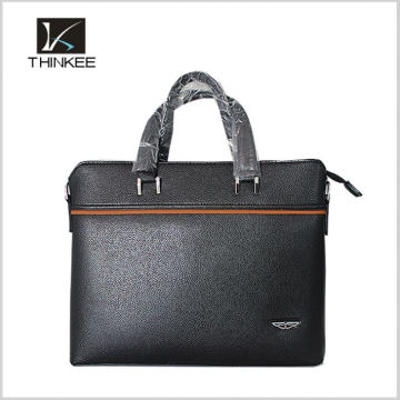 two layer compartments document business bags leather men briefcase