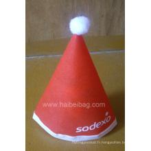 Chapeau de Noël non tissé (HBCH-005)