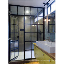 Puerta de ducha de hierro de diseño popular