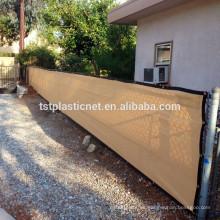 Malla de malla de privacidad de cerca de 4'x50 'de malla de malla para jardín de jardín de construcción
