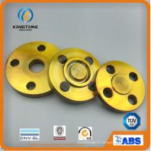 La bride aveugle d'acier au carbone d'ASME B16.5 a forgé la bride avec TUV (KT0398)