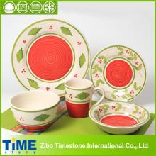 Холли листьев дизайн Набор посуды для Рождественские украшения (15032602)