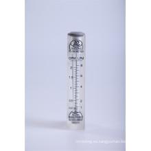 Medidor de caudal de agua líquida Medidor de flujo de tipo rotámetro de acrílico
