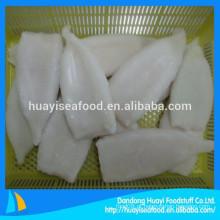 IQF forma branca limpa tubo de lula congelada