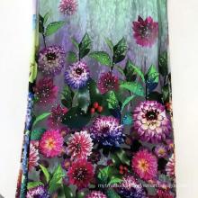 60S Satin Rayon Real Digital Print Fabric