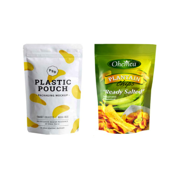 Resealable Standing Snack Packaging Bags met ritssluiting