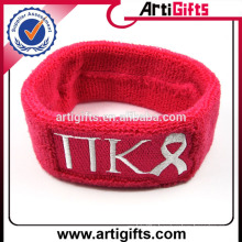 Custom logo cheap sweatband sports wrist band