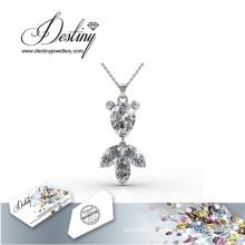 Destin bijoux cristal de Swarovski Goldfish pendentif & collier