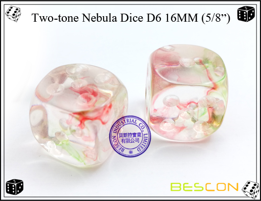 Two-tone Nebula Dice D6 16MM-2