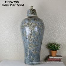 Chiness antike Keramik Handwerk dekorative Blume Vase für zu Hause Dekoration