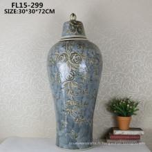 Chiness antique céramique artisanat décoratif vase à fleurs pour décoration de maison