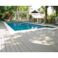 White antiseptic wood plastic composite decking, waterproof laminate flooring, outdoor deck floor covering, wpc decking