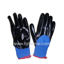 NBR Gloves Half Dipped Nitrile Gloves Safety Work Glove