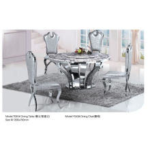 Round Dining Table with Glass/Marble