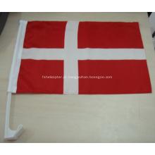 Bandeiras feitas sob encomenda do carro de Dinamarca