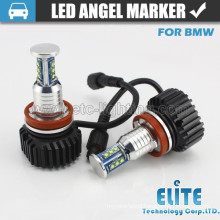 60W E92 Aluminum LED marker headlight angel eyes with fan