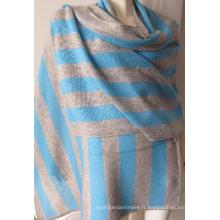 30% cachemire 70% châle en toile de rayures en laine