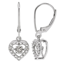 Hot Sales 925 Dangle Earring with Dancing Diamond Jewelry