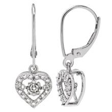 Hot Sales 925 Dangle Earring with Dancing Diamond Jewelry