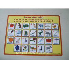 Learn ABC Printed PP Desk Pad Table Placemat for Kids