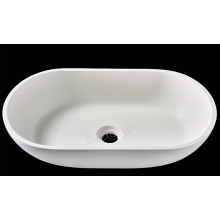 Wall-mounted wash basin WB0017-matte white-540x338x118mm-solid surface