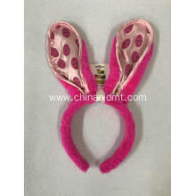Pink rabbit ear headband