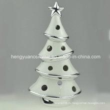 Точечный товар! Ионное покрытие Рождественская елка Фасонные подставки для свечей Керамические