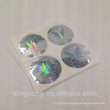 Etiqueta engomada por encargo barata del holograma del laser de la seguridad 3d para la ventana