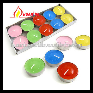 Aluminium Tealight Candle berwarna-warni
