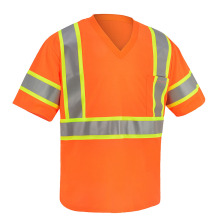 Neon-yellow Class 3 Safety Tshirt